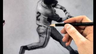 How to Draw a Baseball Player (Batter in Hitting Stance with Bat)