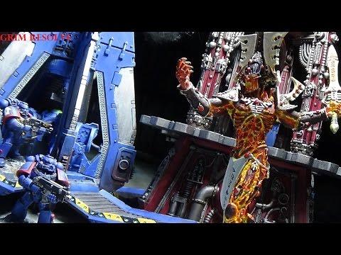 Ulthwe vs Ultramarines 2000pts 40k Craftworld Eldar vs Space Marines