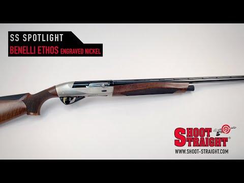 Benelli Ethos Semi-Auto Shotgun - Engraved Nickel Receiver - Shoot Straight Spotlight