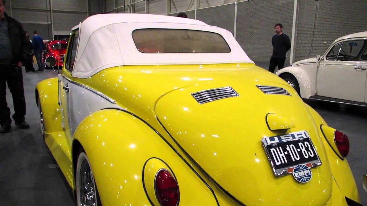 vw beetle yellow white convertible  kwf maastricht  youtube