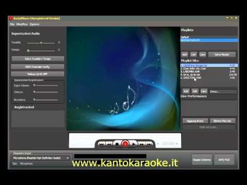 programma registrazione canto karaoke