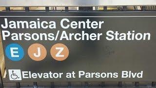 MTA New York City Subway: R160 (E) (J) Trains @ Jamaica Center Parsons-Archer