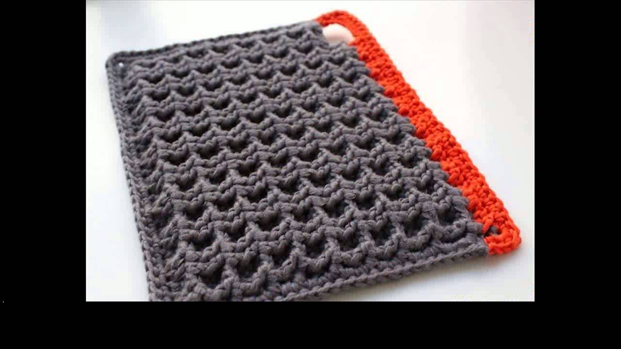 Easy Crochet Potholders Youtube