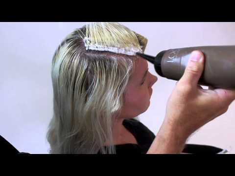 perfect blonde how to do hair color application with