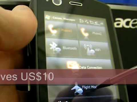 Acer Tempo DX900 Quadband 3G Dual SIM Unboxing Demo Video