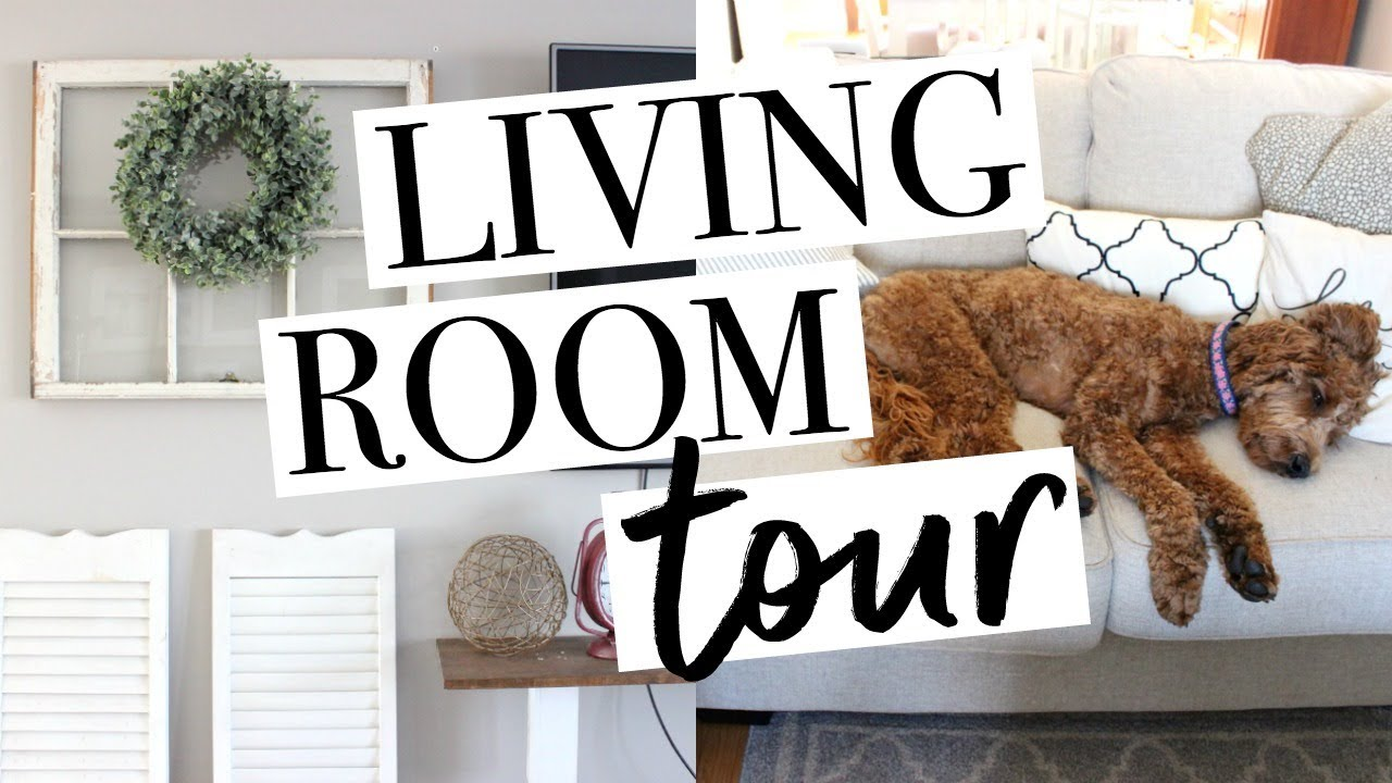 FARMHOUSE LIVING ROOM TOUR 2017 - YouTube