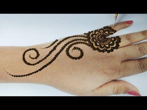 बहुत आसान गोल टिक्की मेहँदी लगाना सीखे || Easy Rakhi Special 2020 Mehndi Design || Special Eid Henna