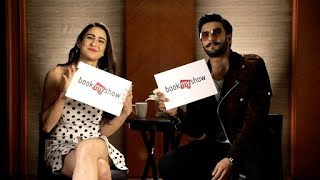 Simmba On Set | Exclusive Interview with Ranveer Singh and  Sara Ali Khan | BookMyShow