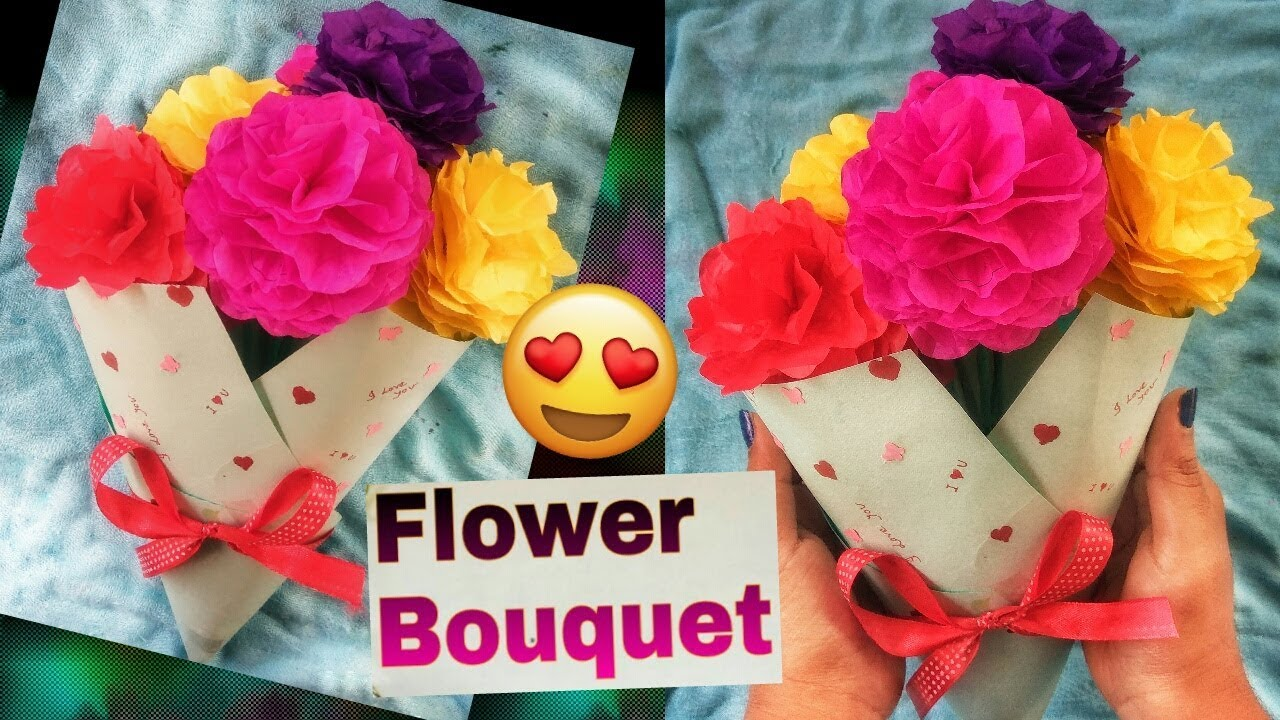 How To Make Flower Bouquetpaper Flowers Bouquetdiy Flower