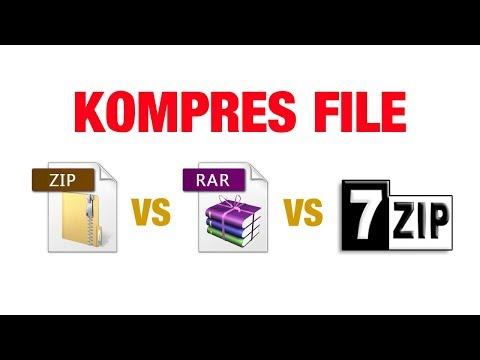 ZIP vs RAR vs 7Zip | 3 Cara KOMPRES FILE Terpopuler - Mana Yang Paling Bagus?