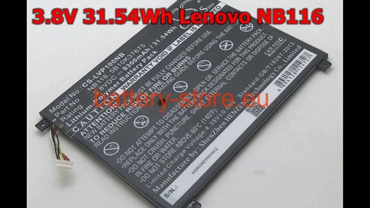 New Arrival 38v 8300mah Nb116 For Lenovo Ideapad 100s 80 R2 Laptop Yoga 300 2in1 116 Notebook Tablet Battery
