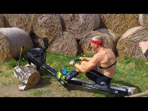 1 min Concept2 World Record (men Hwt 19-29 years) Power Rowing 2/3