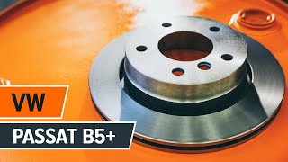 How and when to replace Brake pad set rear and front VW PASSAT Variant (3B5): video tutorial