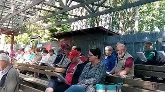 Yhteislaulutilaisuus Vuohensaaressa