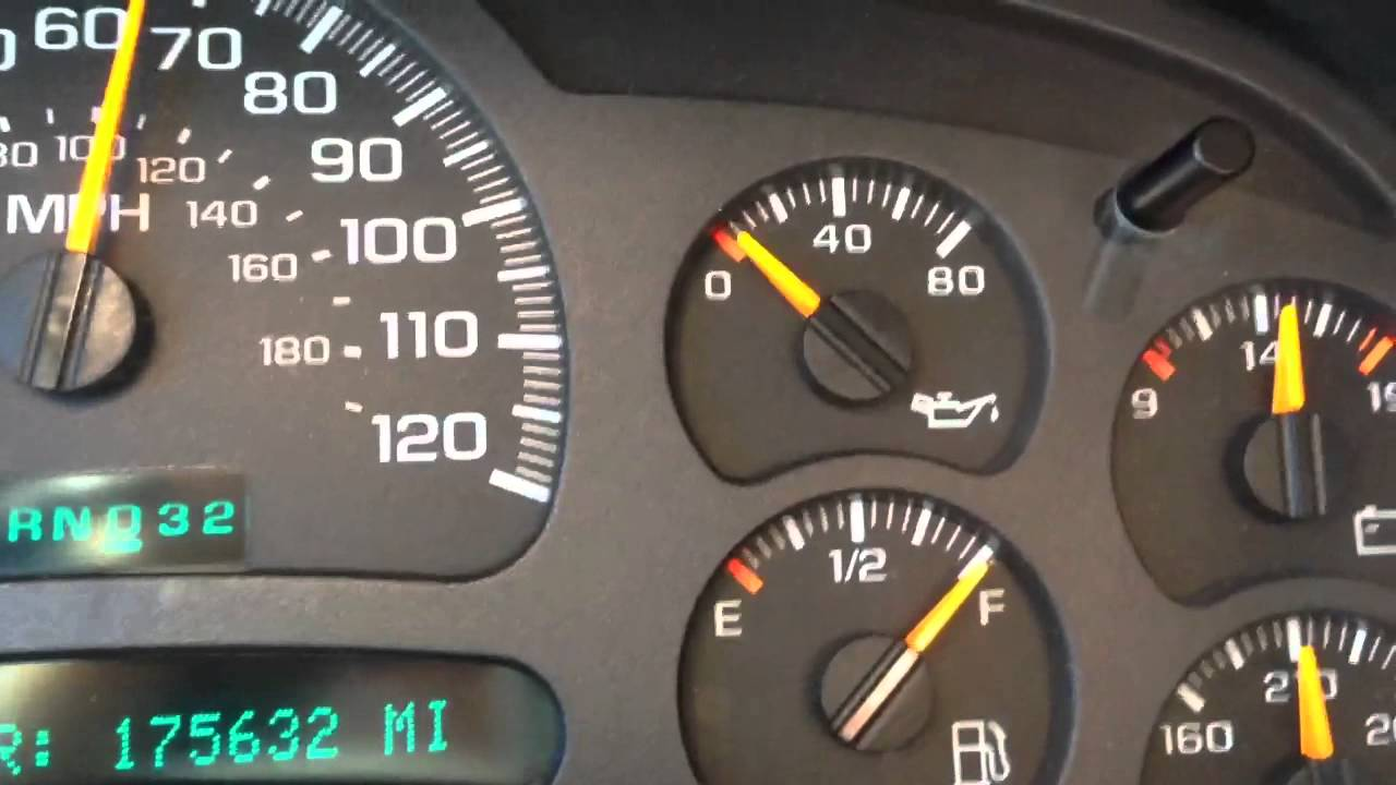 For Car Alarm Wiring Diagram 03 Chevy Silverado Oil Pressure Gauge Fluctuating Youtube