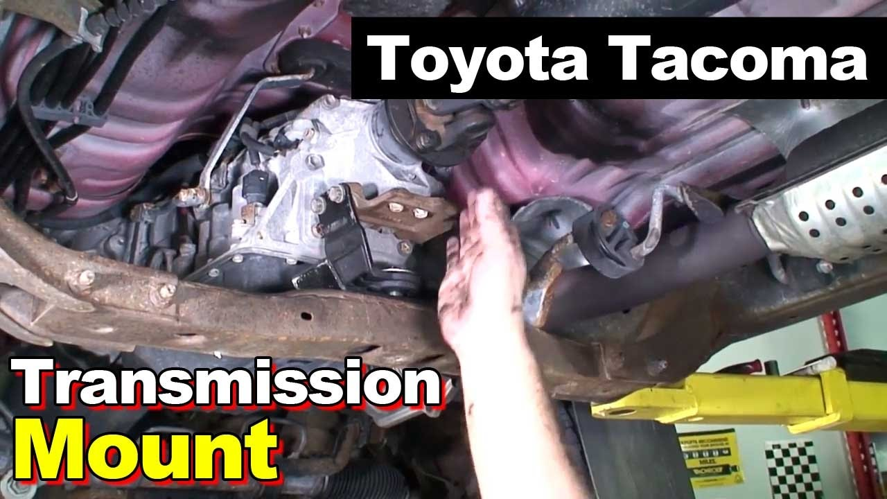 small resolution of 2004 toyota tacoma transmission rubber mount driveshaft center carrier support bearing youtube