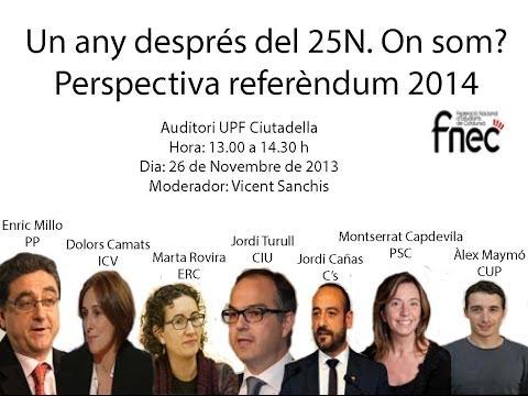 FNEC Debat 26 novembre 2013 Auditori UPF Ciutadella