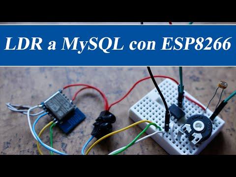 LDR a MySQL con ESP8266 y Attiny85 RincónIngenieril