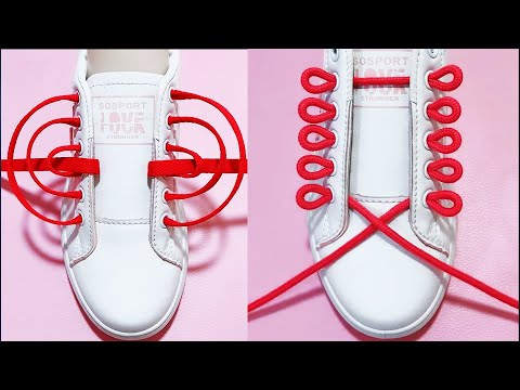 How To Tie Shoelaces - 24 Creative Ways to Fasten Tie Your Shoes Tutorial Step by Step, #13