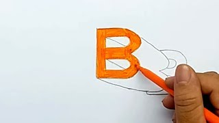 Draw 3D letters on paper, floating on the letter B | Smart Baby
