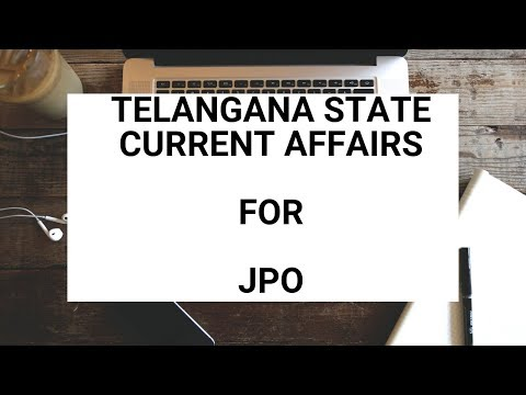 Jpo expected questions/jpo Telangana state current affairs