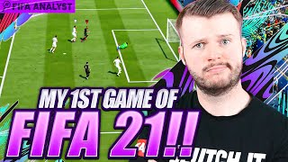 FIFA 21 MY FIRST GAME! FIFA 21 ULTIMATE TEAM GAMEPLAY   FIRST GAME ON FUT 21!