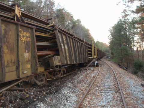 CSX Trail Derailment, Runaway Welded Rail-Train