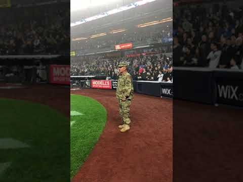 d62f16928ff yankees honor veteran - YouTube