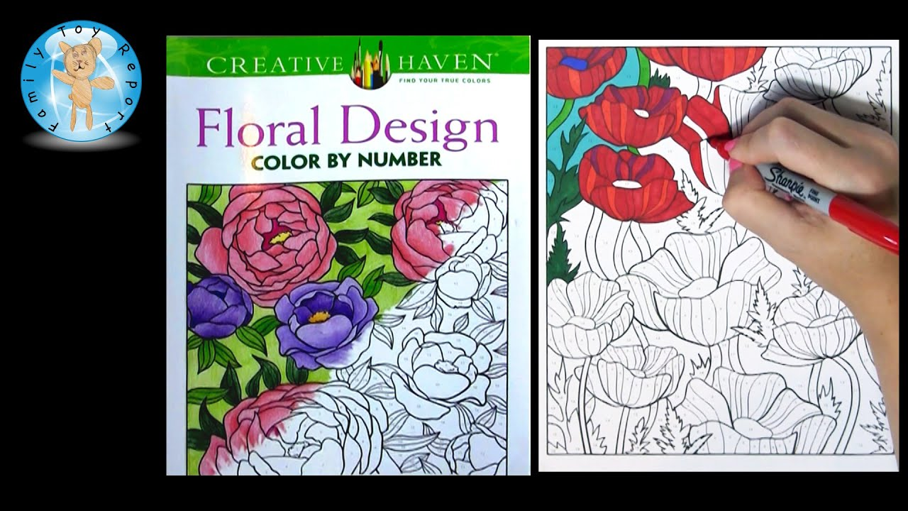 Creative Haven Floral Design Adult Coloring Book Review Color by ...