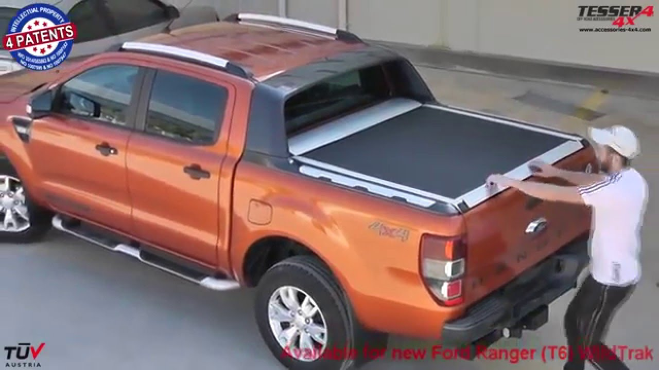 At www.accessories,4x4.com Ford Ranger Wildtrak 2014 3.2 4x4 offroad  mudding aluminum roller lid , YouTube