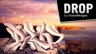 """Drop"" | Digital Graffiti by Franzi Designs"