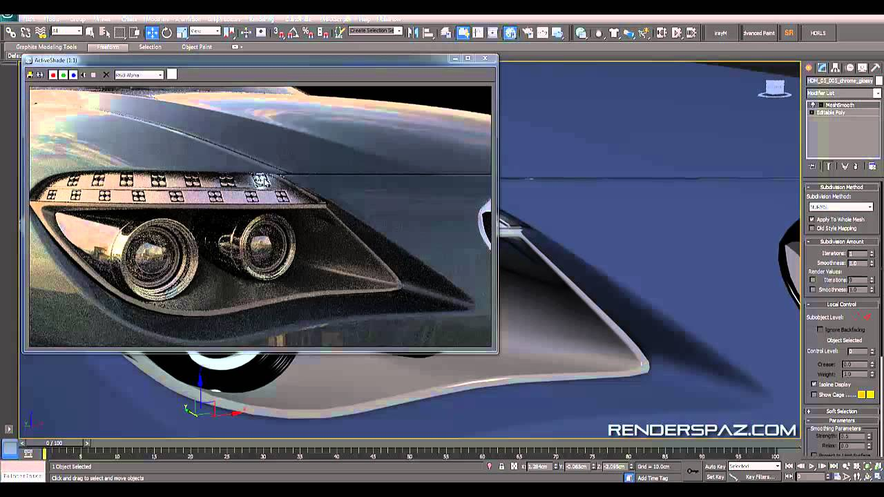Tutorial Vray Car Headlights LEDs