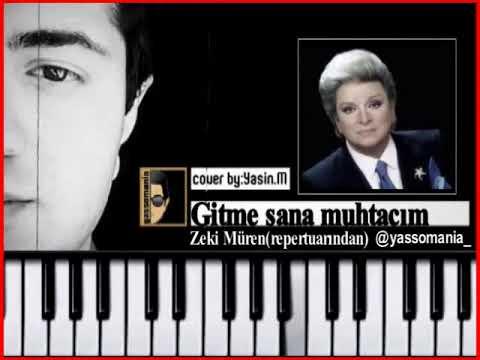 Zeki Muren Gitme Sana Muhtacim Instrumental Karaoke Notalari Piano Tutorial