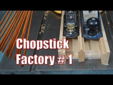 Chopstick factory#1: Testing the idea