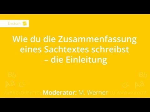 Wie Du Einen Sachtext Zusammenfasst Die Einleitung Deutsch 6