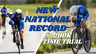 NEW NATIONAL RECORD ON 200K CYCLING | Documentary