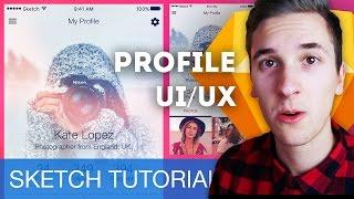 First Sketch Tutorial 2017! Profile UI/UX • Sketchapp Tutorial / Sketch 4 Tutorial