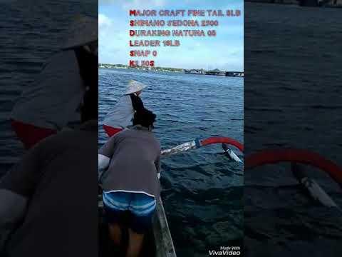 """Ultralight fishing """"strike baby travely at serangan bali"""""""