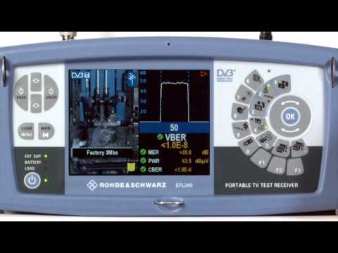Rohde & Schwarz Portable TV Test Receivers For Measuring Terrestrial, Satellite And Cable TV Signals