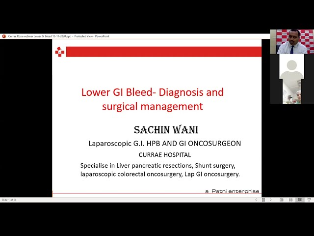 Surgical Management of Lower GI Bleed   Dr. Sachin Wani - Gastroenterologist   Currae Hospitals