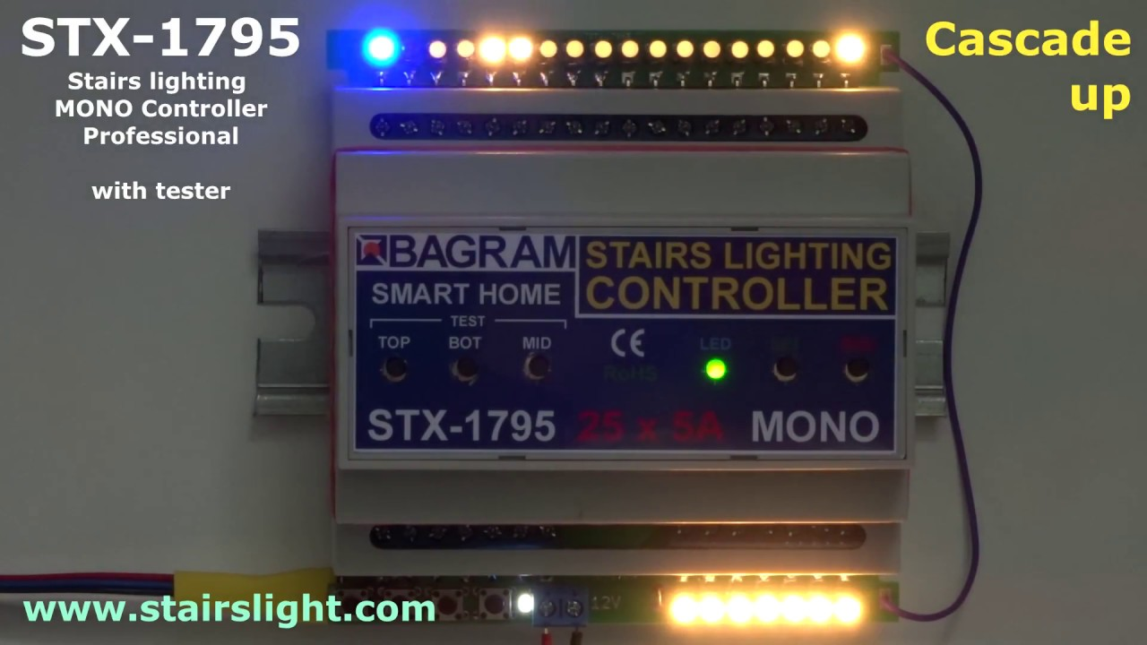 Stairs Lighting MONO Controller STX 1795 (Professional) With Tester