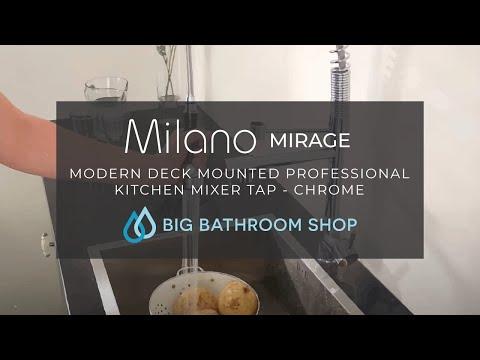 Milano Chrome Pull Down Spray Kitchen Tap Youtube
