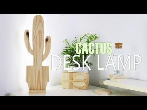 DIY Cactus Desk Lamp With LED Lights   DanDIY
