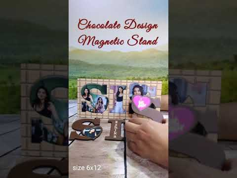 SIS CHOCOLATE DESIGN MAGNETIC PHOTO FRAME 6X12INCH (SISTER)   PERSONALIZED PHOTO GIFTS