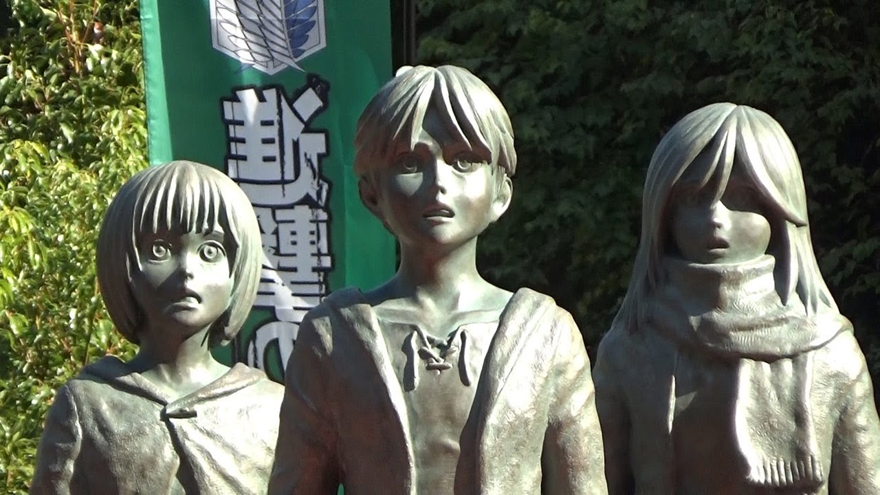 Attack On Titan, Levi statue inauguration