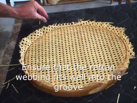 repair rattan chair seat ikea covers dubai how to re cane a in under 10 mins youtube