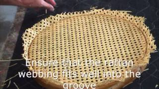 How To Re Cane A Chair Seat In Under 10 Mins
