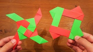How To Make A Paper Transforming Ninja Star #2 - Origami