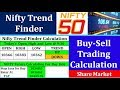 Nifty Trend Finder Calculation in Share Market || Intraday Nifty Future and Option Trading Calculati