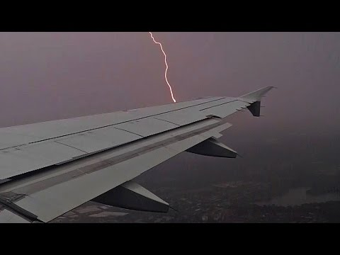 BAD WEATHER TAKEOFF Germanwings Airbus A319 Düsseldorf (DUS/EDDL)